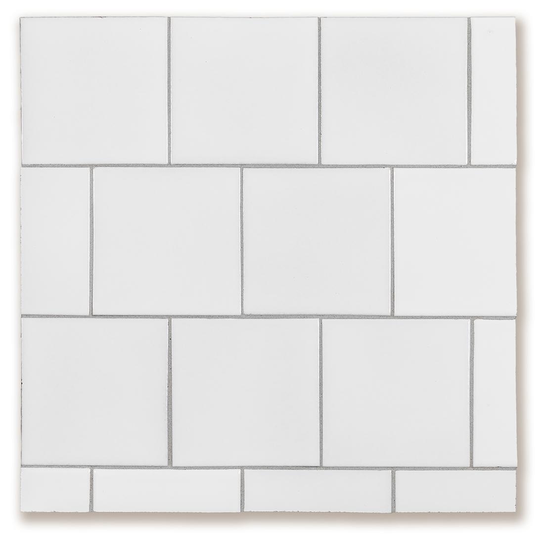 Quick Ship Ceramic Products ARTO - 5x5 white ceramic tile