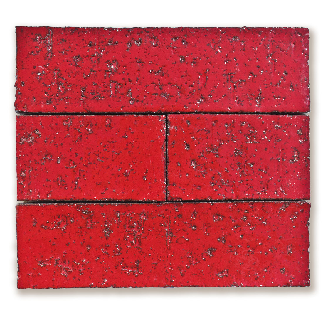2x8 Glazed Brick Cadmium Red 202c