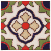 Handpainted Tile Sample - 6x6 SD102A