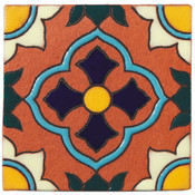 Handpainted Tile Sample - 6x6 SD102C