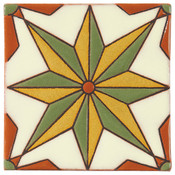 Handpainted Tile Sample - 6x6 SD103B