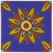 Handpainted Tile Sample - 6x6 SD105A
