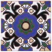 Handpainted Tile Sample - 6x6 SD108A