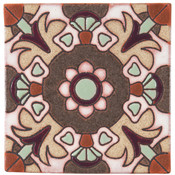 Handpainted Ceramic Tile Deco - 6x6 SD108B