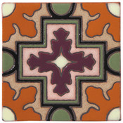 Handpainted Tile Sample - 6x6 SD109A