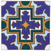 Handpainted Tile Sample - 6x6 SD109B