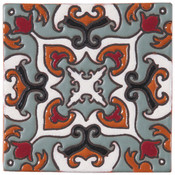 Handpainted Tile Sample - 6x6 SD110A