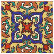 Handpainted Tile Sample - 6x6 SD110B