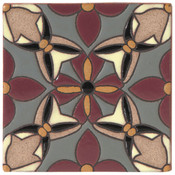 Handpainted Tile Sample - 6x6 SD111B