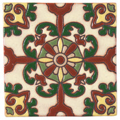 Handpainted Tile Sample - 6x6 SD112A