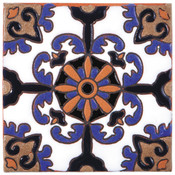 Handpainted Tile Sample - 6x6 SD112B