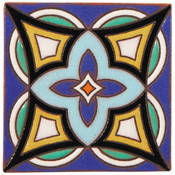 Handpainted Ceramic Tile Deco - 6x6 SD115A