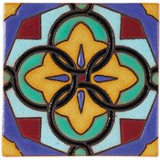 Handpainted Tile Sample - 6x6 SD116A