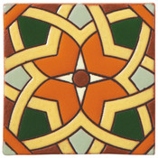 Handpainted Ceramic Tile Deco - 6x6 SD117B