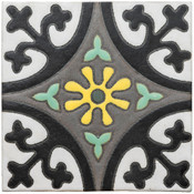 Handpainted Tile Sample - 6x6 SD163HA