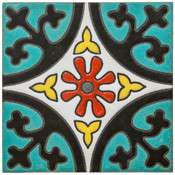 Handpainted Tile Sample - 6x6 SD163HB