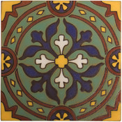 Handpainted Tile Sample - 6x6 SD227HB