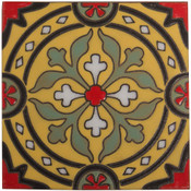 Handpainted Tile Sample - 6x6 SD227HF