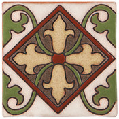 Handpainted Tile Sample - 6x6 SR302A