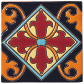 Handpainted Ceramic Tile Deco - 6x6 SR302B